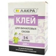 Клей ЛАКРА д/винил. обоев 200г 5-6 рулонов /12/