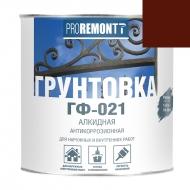 PROREMONT Грунт ГФ-021 Красно-коричневый 0,9кг /10/Л-С